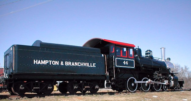 1927 Baldwin engine, Hampton and Branchville, Steam Engine #44